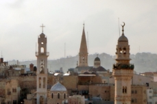 Religious skyline of modern Bethlehem-Palestinian territory